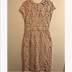 J Crew Creme Floral Dress